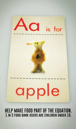 a is for apple print ad