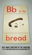 b is for bread print ad